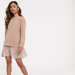 ASOS rib sweater giraffe print dress